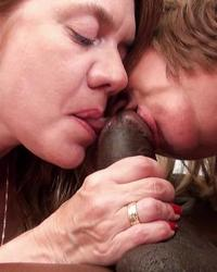 Two hot matures and black cock