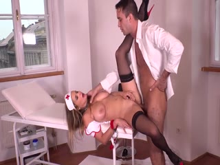 Busty Blonde Nurse Gets Anal And BDSM Treatment