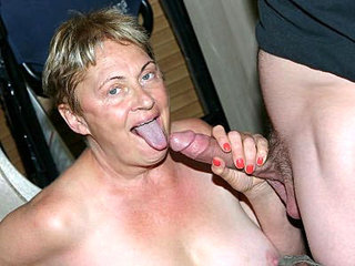 Chunky Mature Tugging A Dick