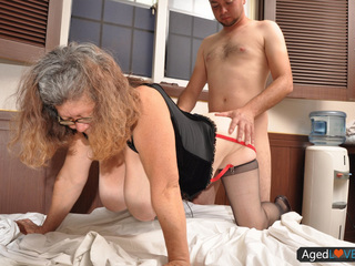 Granny With Big Tits Gets Banged