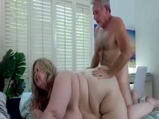 Horny Older Man Fucks Cute BBW