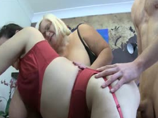 Two Mature Ladies In Threesome
