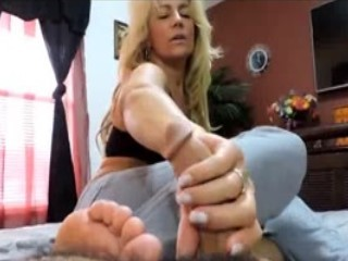Perfect Mature Babe Giving Me World Class Footjob And Handjob