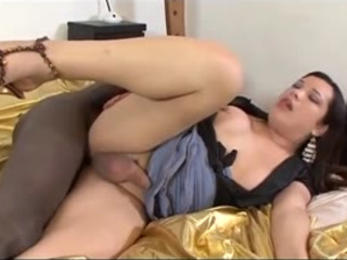 Shemale Bitch Spreads Her Legs And Takes Big Fat Cock