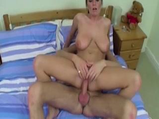 Dirty Lady Gets Cum On Her Feet