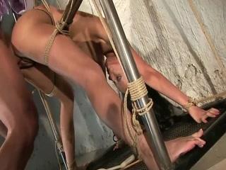Restrained Slut Gets Plowed