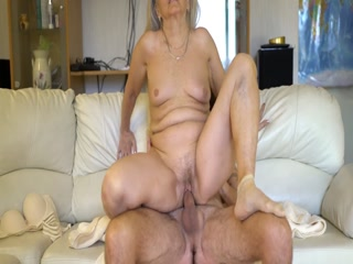 Granny Lets Man To Fuck Her Hard In The Pussy