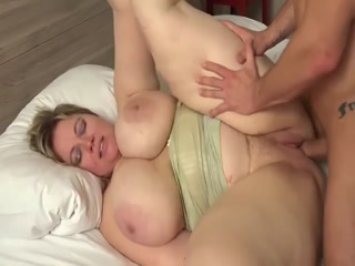 Fatty Bitch With Huge Tits Worships A Hard Dick