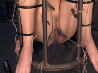 Small Tits Slave Tormented In Small Cage