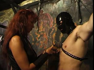 Dominatrix Punishes Her Slaves In The Dungeon
