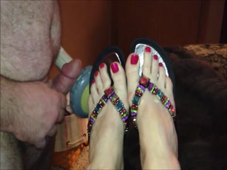 Getting Off To Her Beautiful Feet