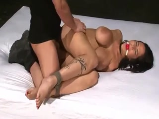 Restrained Slut Gets Her Filthy Tight Pussy Fucked Rough
