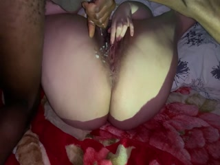 Watch Her Tease My Big Black Cock With Her Fat Mature Pussy