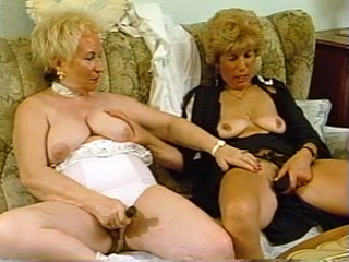 Lonely Grannies Fuck Each Others Cunts With Dildo Toys