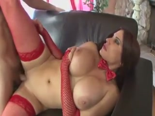 Busty Brunette Adores Rough Fuck And Creampie