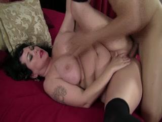 BBW Mature Takes Big Black Cock
