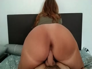 Horny BBW With Big Booty Takes A Fat Dick Deep Inside Her Pussy