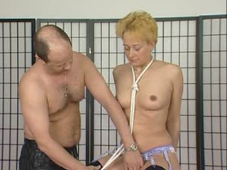 Blonde Mature In Rope Bondage