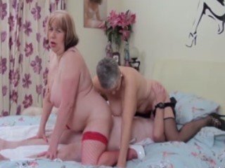 Busty British Matures Share Cock In Threesome