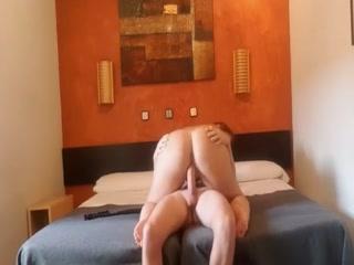 White Cock Fucks Horny  BBW Latina In The Hotel Room