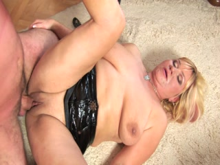 Blonde Oldie Craves For A Hard Cock